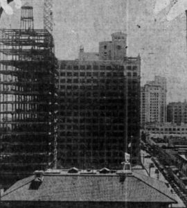 Security Building under construction in August, 1928.