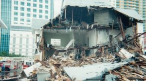 Dr. Jackson Home Demolition in 2001