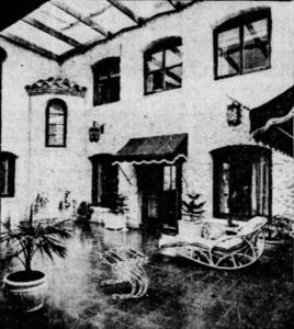 Patio of La Casa Reposada in 1937.