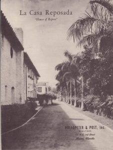 Back Drive of La Casa Reposada in 1940.