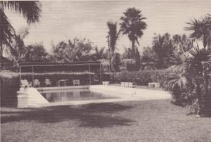 Pool of La Casa Reposada in 1940.