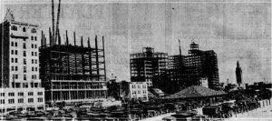 Construction on Biscayne Blvd in 1925