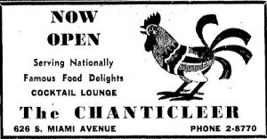 Chanticleer Ad in 1944.