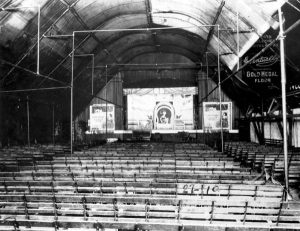 Interior of Airdrome Theater in 1921.