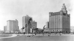 Watson Hotel from Bayfront Park in 1926.
