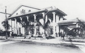 Warner family in front of recently completed home in 1912.