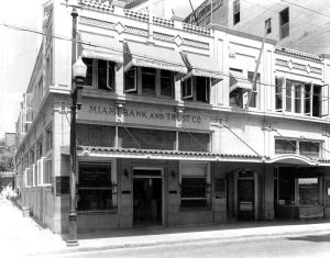 Miami Bank & Trust office in 1921.