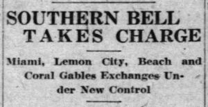 Miami News headline on January 1, 1925.