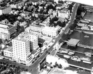 Aerial from McAllister Hotel in 1920.