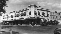 Exterior of U.S. Hotel in 1930s.
