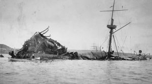 Sinking of the Maine in Havana Harbor in 1898