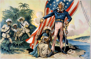 Cartoon of Spanish American War