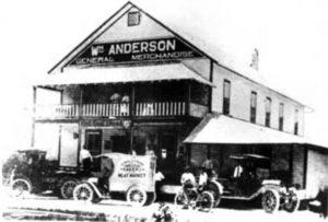 Anderson's Corner in 1911