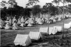 Camp Miami tents in 1898.