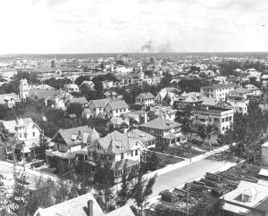 Aerial of Short Street in 1917.
