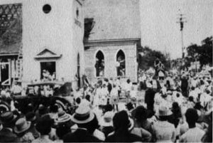 United Methodist Church demolition in May of 1919.