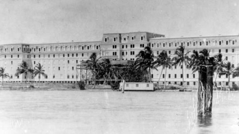 Royal Palm Hotel under construction in 1896