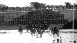 Soldiers Drilling at Royal Palm Park in 1898