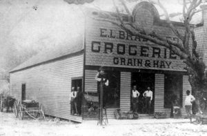 E.L. Brady Grocery Store in 1896 on Avenue D.