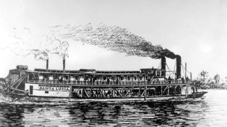 Santa Lucia Steamer in 1899