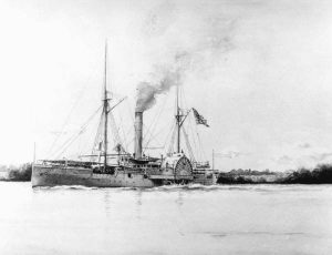 USS Miami in 1899