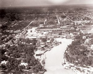 Miami River looking west in 1918.