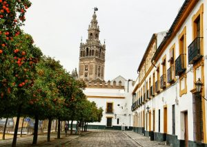 Giralda Tower in Seville, Spain.