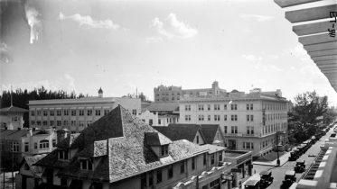 NE First Street & NE Third Avenue in 1924 looking southwest.