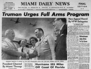 Harry Truman in Miami on August 22, 1949
