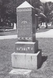 Julia Tuttle headstone in 1998.