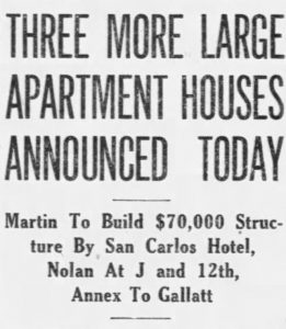 Front page article in Miami News on May 6, 1919.
