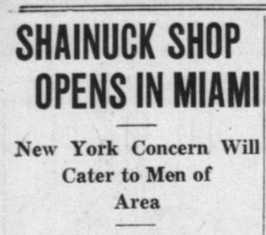 Article headline in Miami News on December 21, 1934.