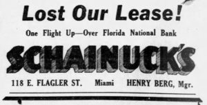 Ad in Miami News on May 27, 1936.