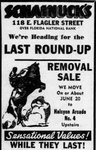 Ad in Miami News on June 12, 1936.