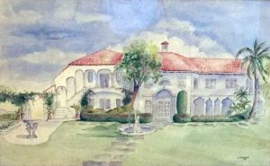Painting of Rivera Apartments