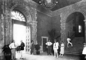Interior of News Tower in 1925.