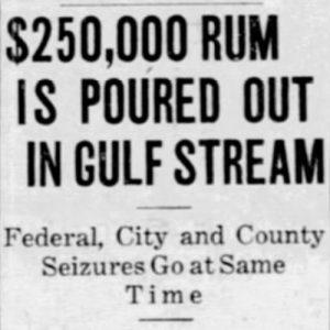 Headline in Miami News on July 13, 1927.