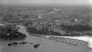 Mouth of the Miami River in 1925