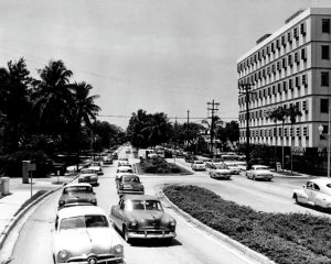 Brickell Avenue in 1950s