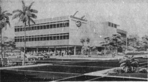 Rendering of American Banker Insurance office in Brickell on July 1, 1956