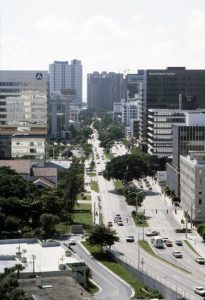 Brickell Avenue Looking South in 1984