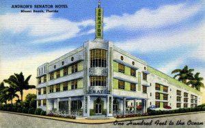 Postcard of Androns Senator Hotel
