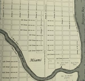 Miami Street Map Showing Both Systems