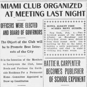 Article in Miami Metropolis on February 4, 1909