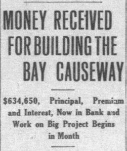 Headline in Miami Metropolis on December 28, 1916