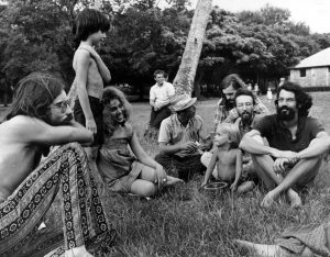 Hippies in Peacock Park on July 20, 1969