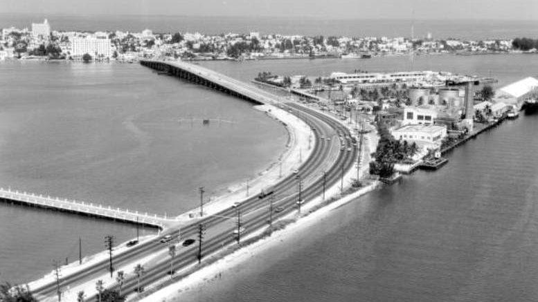 MacArthur Causeway in 1959