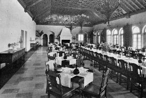 Surf Club dining room in 1931