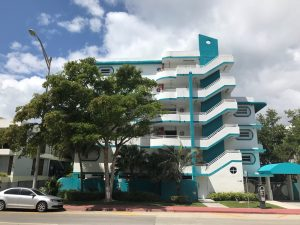 Streamline Moderne Apartment Building on Collins Ave