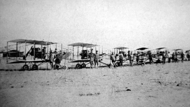 Curtiss planes lined up in Hialeah